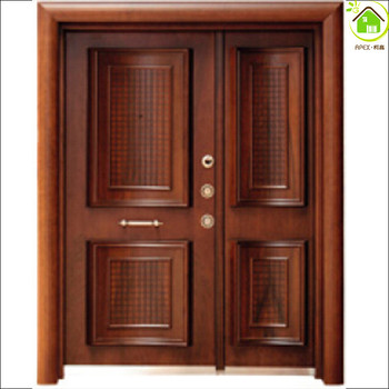 Turkish style Armor Steel wooden door u0026 armored door double entrance door & Turkish Style Armor Steel Wooden Door u0026 Armored Door Double Entrance ...