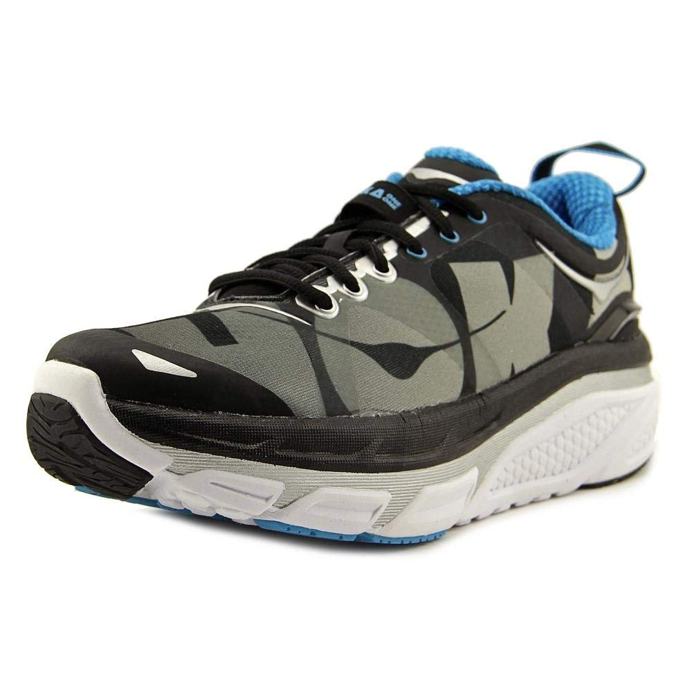 45c2f459cb551 Get Quotations · Hoka One One Valor Mens Black Textile Athletic Lace Up Running  Shoes 8.5