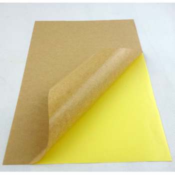 a4 kraft paper label printing stickers for laserinkjet printer permanent adhesive strong glue