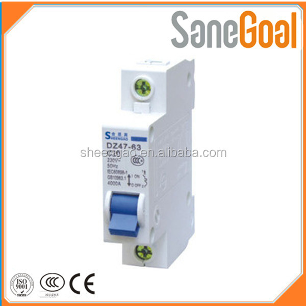 hot selling high quality DZ47LE-63 63 125 amp 1 to 4 poles mcb/elcb Earth leakage circuit breaker