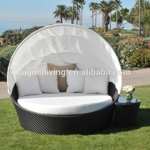 2018 Leisure used outdoor garden furniture rattan round daybed