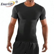 Copper Compression Running Wear Short Sleeve T shirt for Men