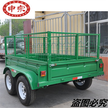Atv Tow Behind Trailer With Cage Buy Atv Tow Behind Trailer Car Box Trailers Tandem Atv Trailer Product On Alibaba Com