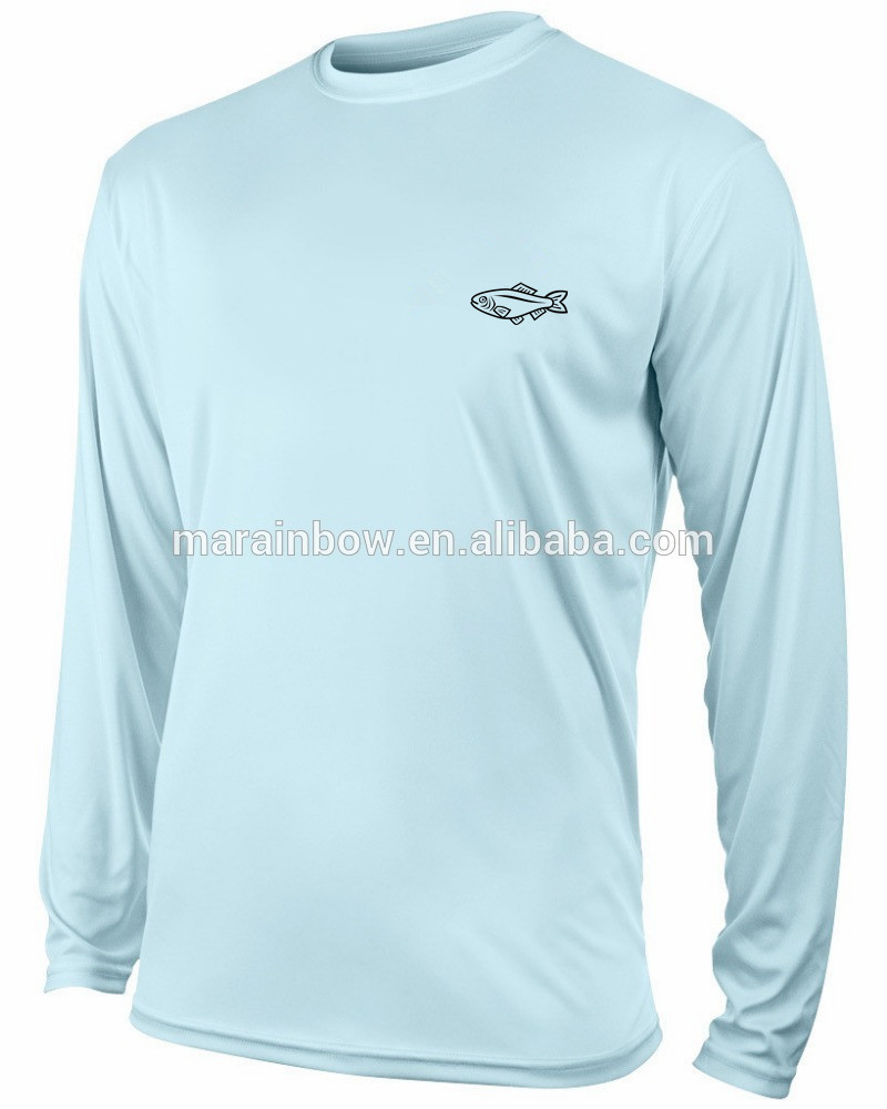 Long Sleeve Fisherman Sun Protection Shirt Moisture Wicking Polyester Sun Shirts