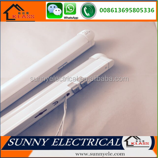 High brightness Aluminum 1200mm t8 tube led with fixture integration