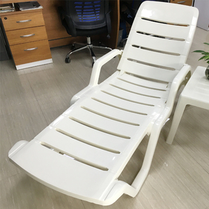 Miaosen Heavy Duty Poolside Beach Garden White Plastic Sun Bed