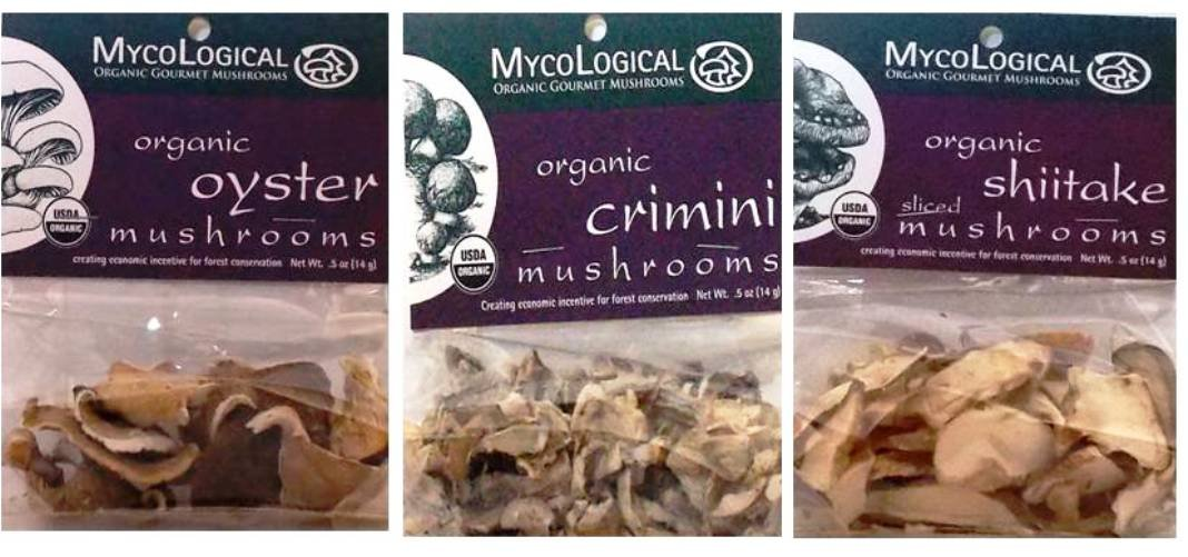 Mycological Organic Dried Mushroom 3 Variety Bundle: (1) Organic Sliced Shitake Mushrooms, (1) Organic Crimini Mushrooms, and (1) Organic Oyster Mushrooms, .5 Oz. Ea.