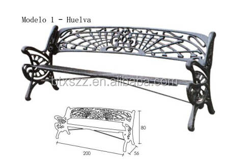 classical Garden Bench,metal art street furniture used cast iron park bench