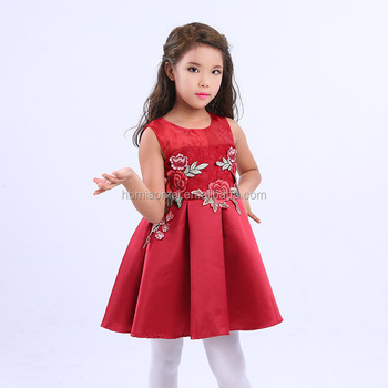 4d7b3b4080c New Fashion Modern Children Flower Girl Dresses Chinese Style Embroidered  Design Baby Girl Fancy Frocks 2017