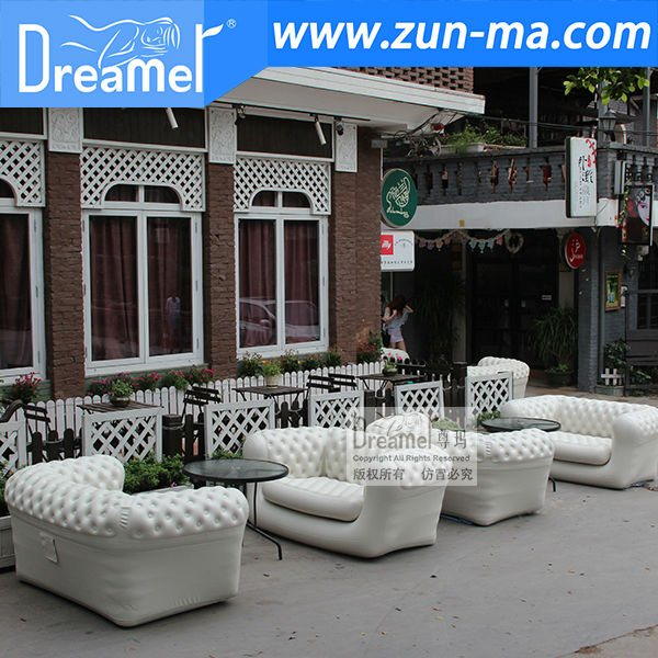 new design inflatable sofa, inflatable outdoor sofa, inflatable double seat sofa