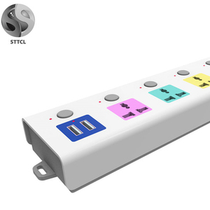 Wholesale 2 USB Power Strip Socket China/USA/UK/SA/EU Plug Hot Selling China Power Strip Low Price Good Quality In Stock