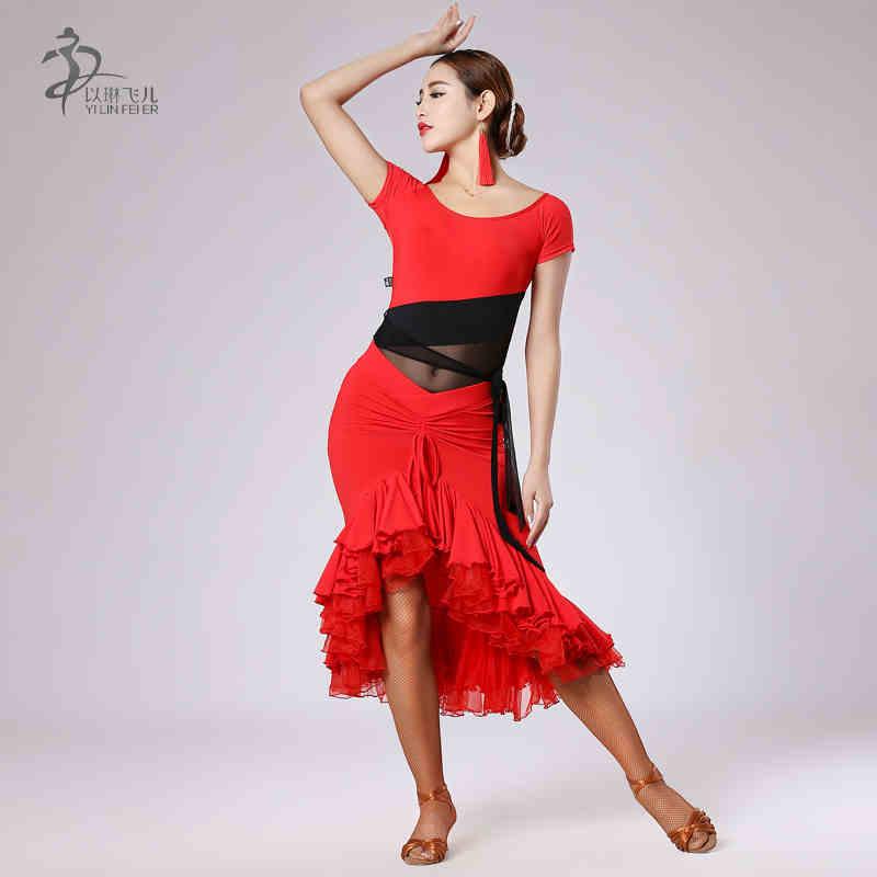 Latin Dance Dress Women Latin Salsa Dresses Ballroom ...