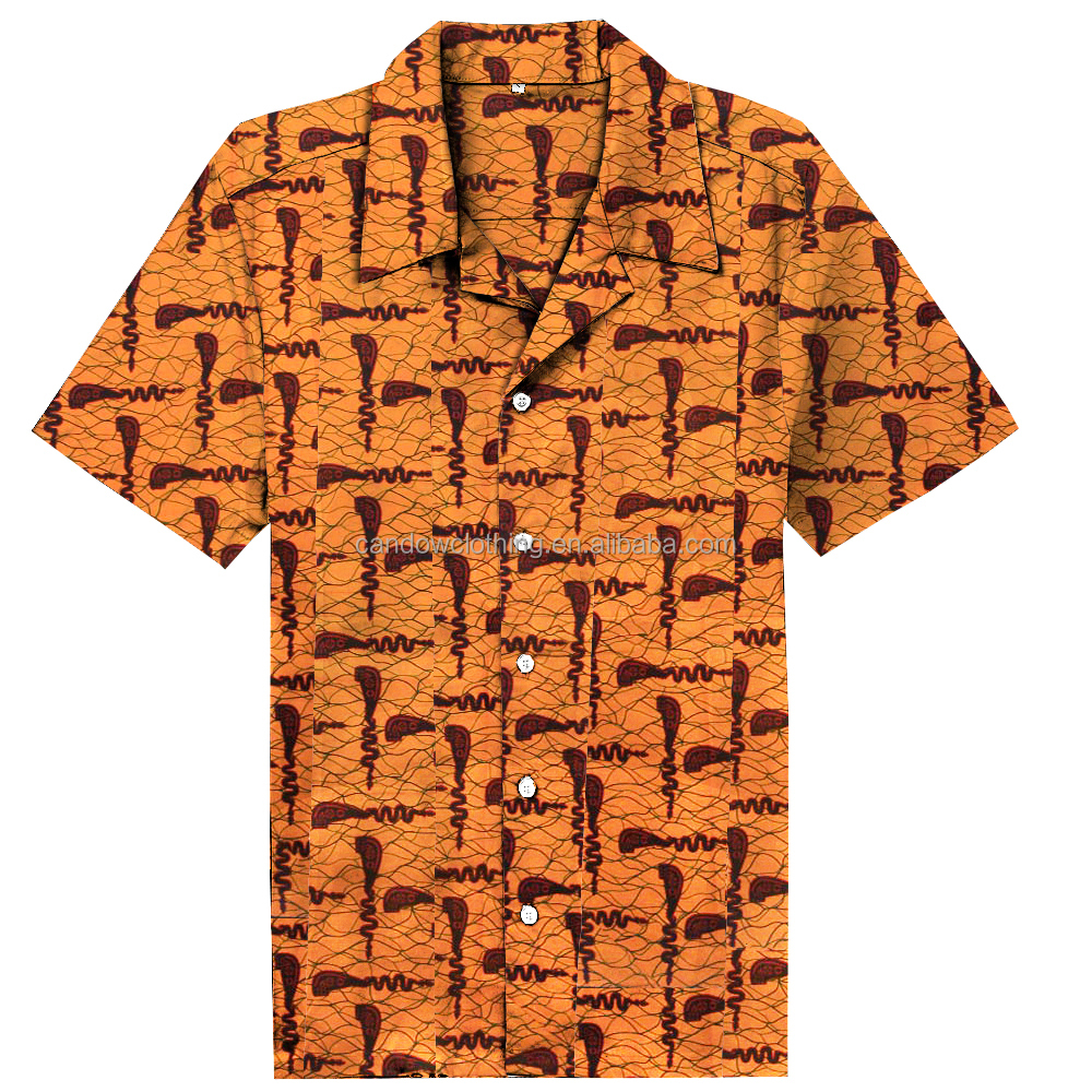 New design latest shirts african style ankara traditional print wax shirts pattern clothing for men