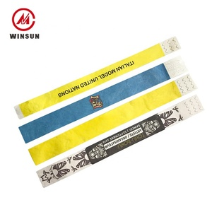 Promotion High Quality Personalized Printable Tyvek Slap Wristband Bracelet  Pvc