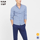 2017 new design shirts casual check gingham shirts for men slim fit with pocket