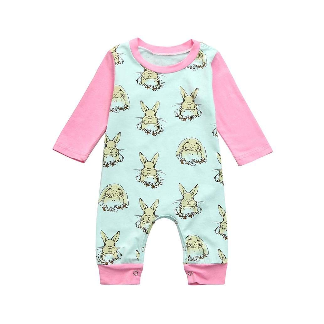 e2594881883e ... this adorable Easter Bunny girl goose out... Get Quotations · Baby  Romper Girl Boy Summer,Elevin(TM) Toddler Infant Newborn Baby Girl Boy