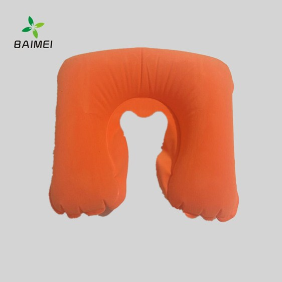 PVC flocking Travel u-shaped pillow factory direct
