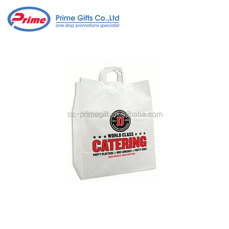 China Factory Heat Resistant Plastic Garment Bag Handle Bag