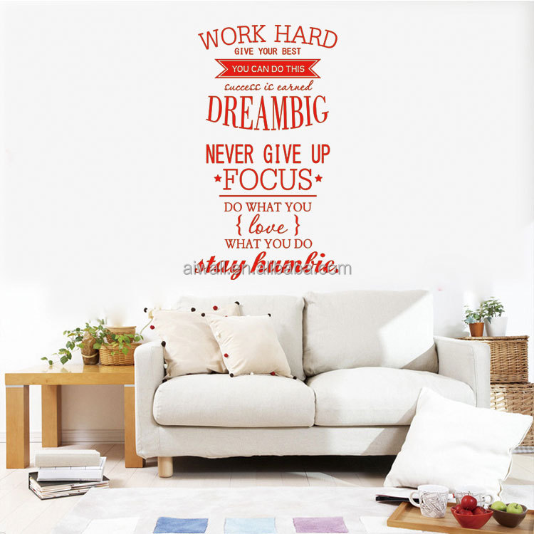 4055 Work Hard Wall Stickers Quotes Wall Decal Vinyl Wall Art For