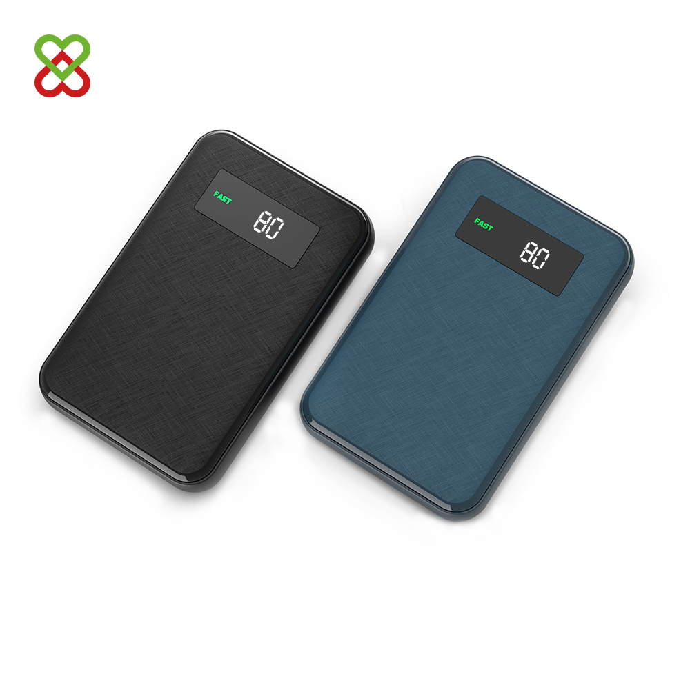 Custom Logo 12V 3A LCD PD 3 .0 Type c Battery Powerbank 10000 mah Quick Charge Power Bank