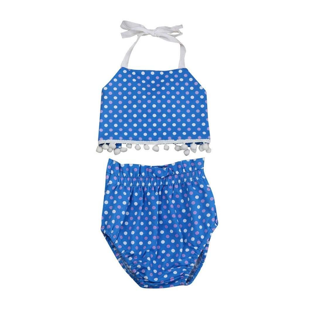 4261e73ef3f1d Get Quotations · Dressffe Bikini Beach Set For Little Girls, Kids Baby Girls  Polka Bikini Swimwear Swimsuit Bathing