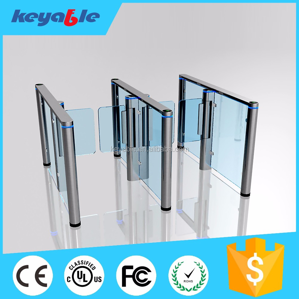 fingerprint access control turnstile swing gate for bank security entrance