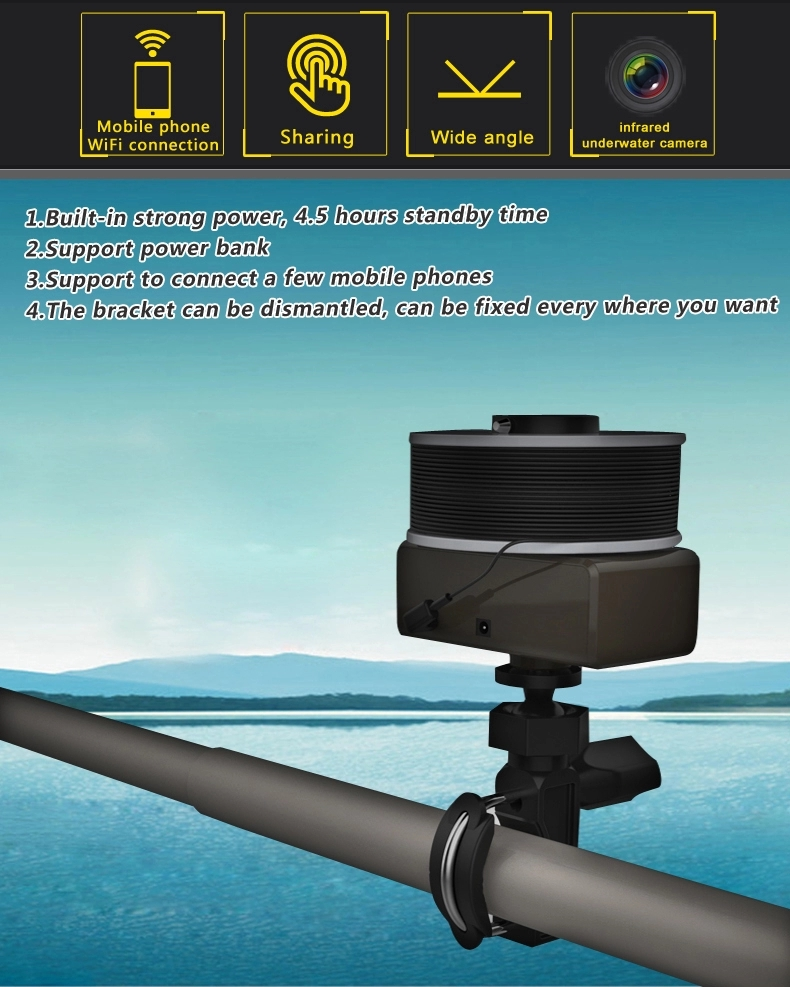 WiFi wireless Underwater Camera Fish finder with 20M cable remote control for ISO /Android