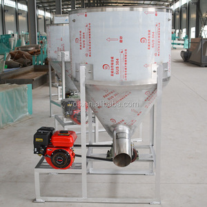Easy to operate grain mixer poultry feed crusher and mixer small feed mixer mill with low price