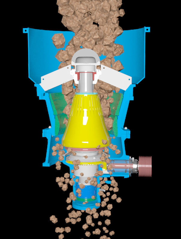 Secondary crushing machine high throught mobile cone crusher for salt crystals