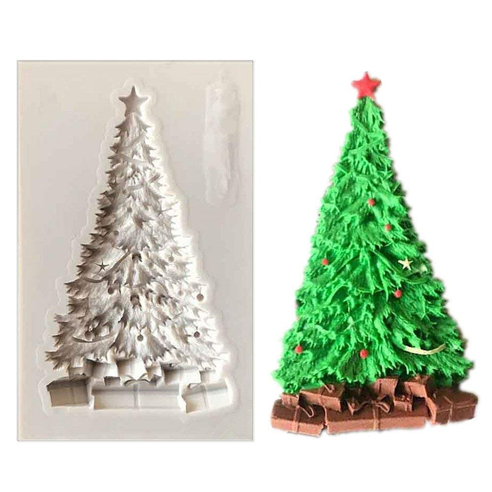 Christmas Tree Fondant Cake Silicone Molds & Candy Molds & Chocolate Mould - Cake Decorating Supplies -Fondant Silicone Baking Molds