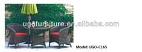 pe rattan outdoor bistro table and chair UGO-C165 UGO furniture wholesale