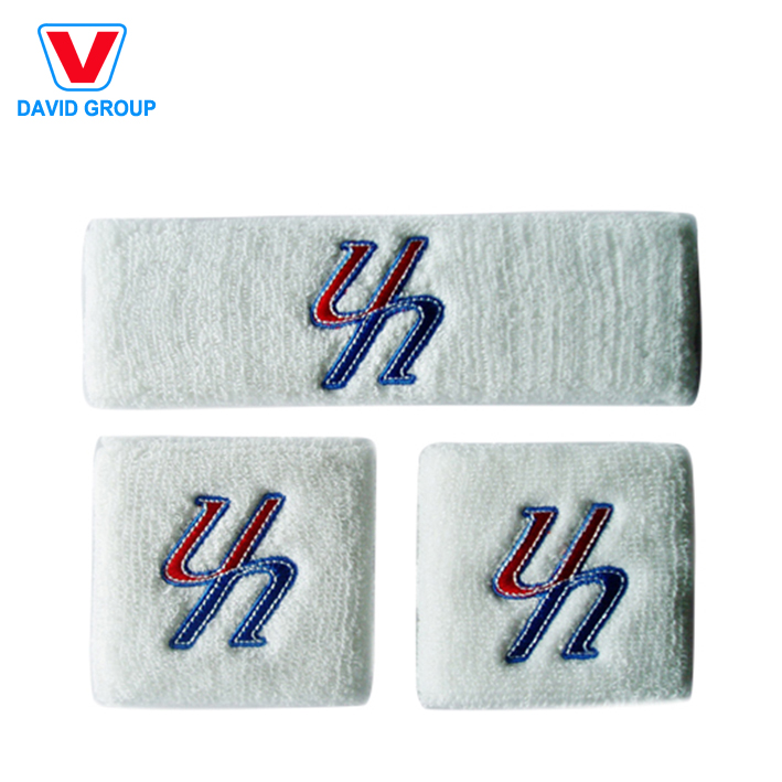 Custom Logo Promotional Embroidery Cotton Wrist Sweatbands