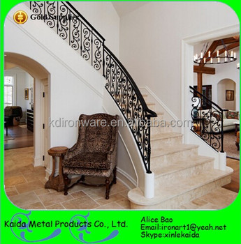 Modern Design Ornamental Metal Stairs And Wrought Iron Stair Balusters