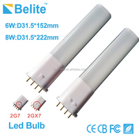 High brightness 6W 8W 4 pin 2G7 2GX7 led bulb