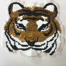 Gestickte Patches benutzerdefinierte tiger design Patch stickerei