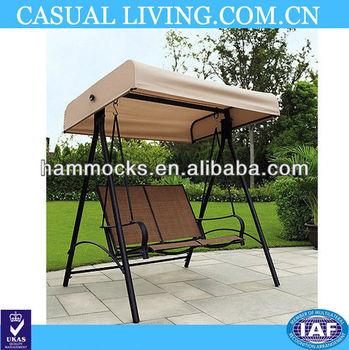 Outdoor Patio Deck Backyard Furniture Fabric Swing 2 Person Loveseat