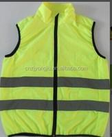 Mens Polar Fleece Yellow Reflective Work Safety Vest