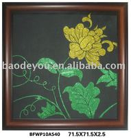 elegant flower framed canvas painting