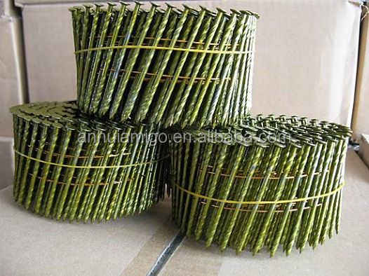 high quality 15 degree steel wire coil nail for building