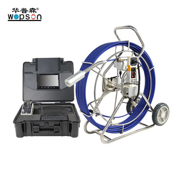 Push Rod  Industrial Pipe Sewer Inspection Camera With Sim Card