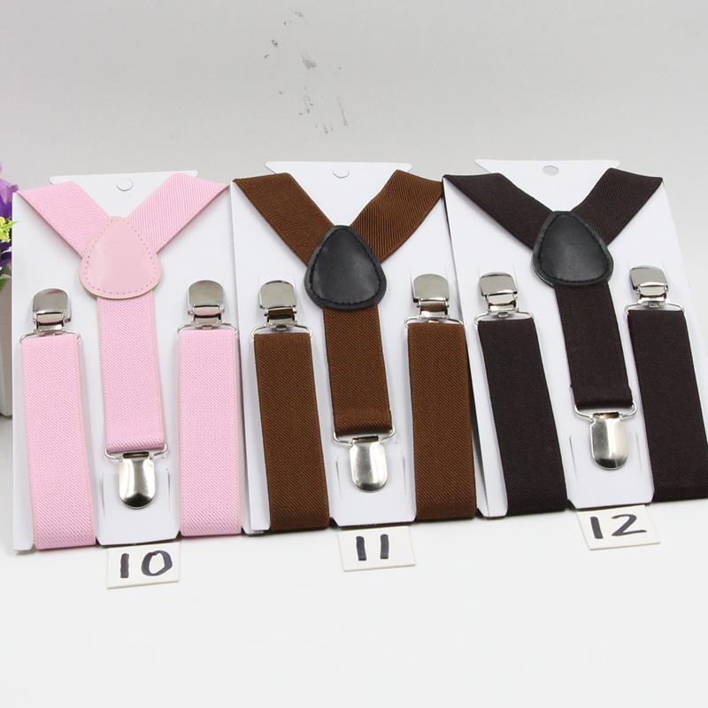 Soild Цвет Мальчики пояса Дети подтяжки полиэстер y-назад подтяжки регулируемые эластичные подтяжки