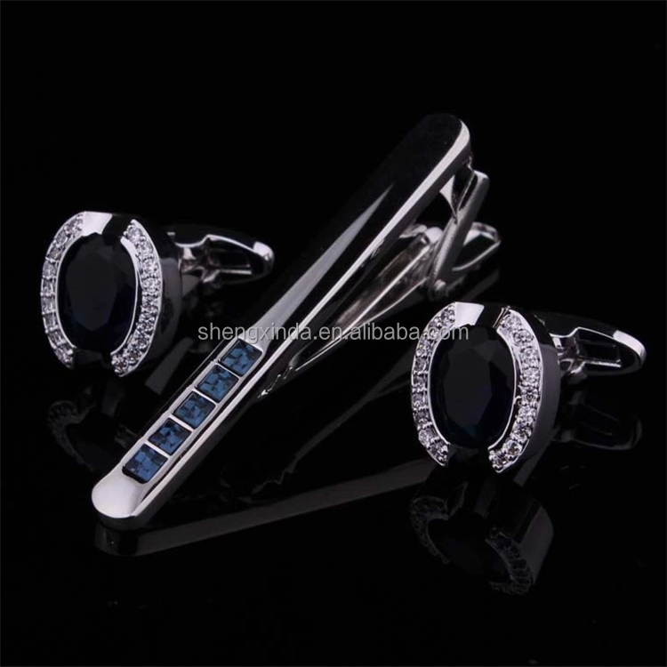china supplier awesome chiristmas business gift tie clip fashion cufflink set