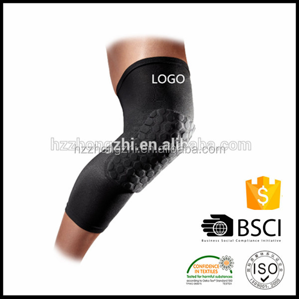 Practical Honeycomb Pad Crashproof Basketball Protect Gear Long Elbow Knee Sleeve