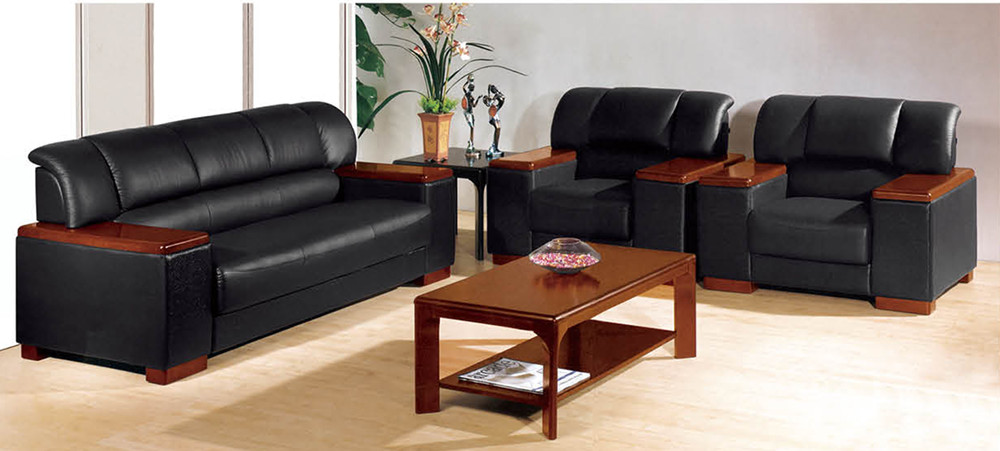 Leather Sofa Wood Arms Supplieranufacturers At Alibaba