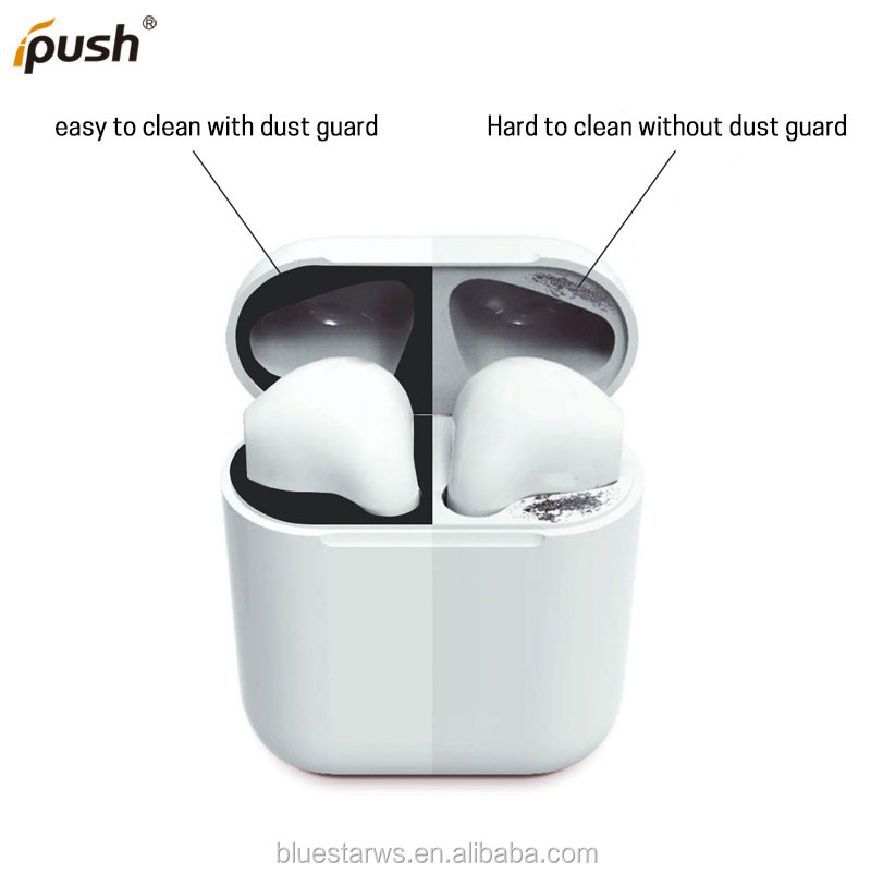 Waterproof Metal Dust Guard Protective Sticker for AirPods Case Cover Shell Skin