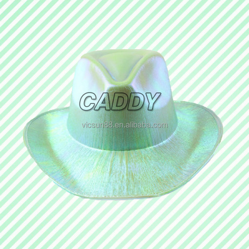 EVA cowboy hat colors perfromance laser jazz cap and hat with roll brim