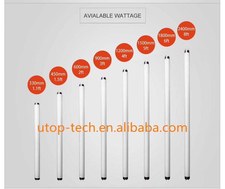 G13 base length fluorescent lamp t8 40w daylight for Lampen 0 36w 6v