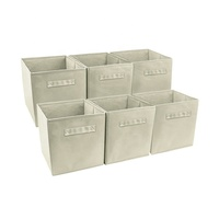 Lightweight and Sturdy Collapsible Bins Box, Foldable Cube Storage Bin