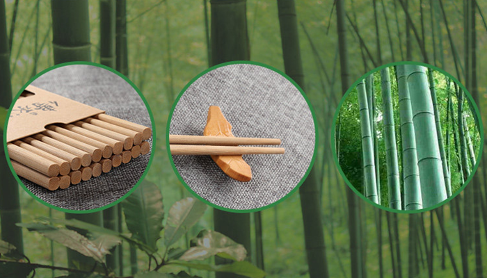 Custom printed biodegradable sticks disposable bamboo twin chopsticks