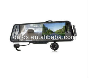 Car Rearview Mirror with Front and Rearview built in bluetooth/back up monitor